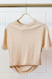 Hyein Seo Shirring Cropped Top - Beige