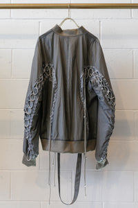 Hyein Seo Aviator Bomber Jacket-Grey