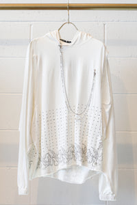 Hyein Seo Chained Hoodie-WHT