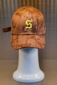 XXXSCOFF XXX Logo Tie-Dye Baseball cap - Brown/Yellow