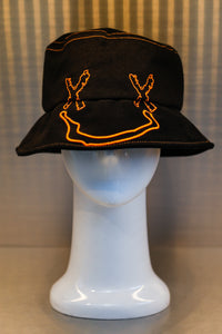 XXXSCOFF Face Scoff xx Logo bucket hat -Orange