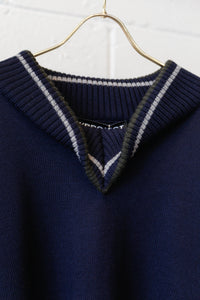 Y-Project Folded Collar Knit-NAV