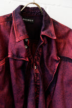 Load image into Gallery viewer, YP-Pop-Up Denim shirt - RED