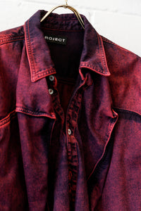 YP-Pop-Up Denim shirt - RED