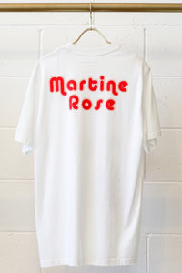 Martine Rose T-shirt W/ Clown Artwork -WHT