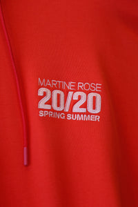 Martine Rose SS20 MR Classic Hoodie-RED