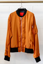 Load image into Gallery viewer, 424 SILK CHIFFON BOMBER, ORANGE