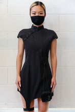 Load image into Gallery viewer, Hyein Seo Qipao Dress w/ Cigarette Pouch - Black