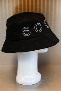 XXXSCOFF Big logo scoff outline bucket hat-Black