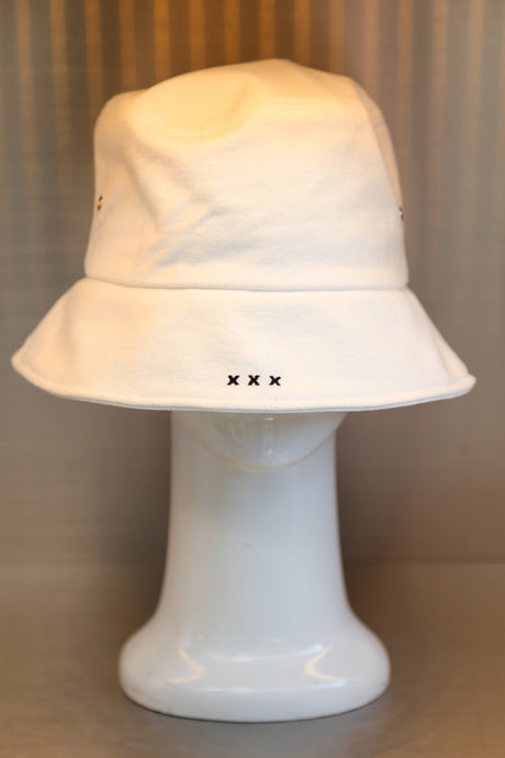 XXXSCOFF Scoff mini logo bucket hat-White