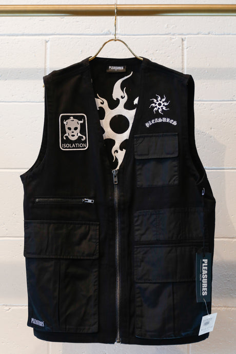 Pleasures Strike Vest-Black