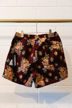 Load image into Gallery viewer, Pleasures Dejavu Woven Floral Shorts-Maroon