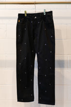 Load image into Gallery viewer, Pleasures Village Rivet Denim Pant-Black