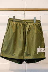 Pleasures Electric Active Shorts-Green