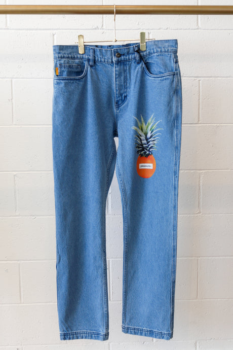 Pleasures Juice Denim Pant-Blue