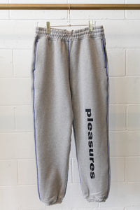 Pleasures Heather Greo Collapse Sweatpants-Grey