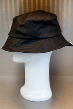 Load image into Gallery viewer, XXXSCOFF Leather unbalance xx Scoff Bucket hat-Black