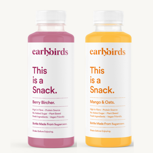24 Bottles of Earlybirds: Berry Bircher (x12) & Mango & Oats (x12)