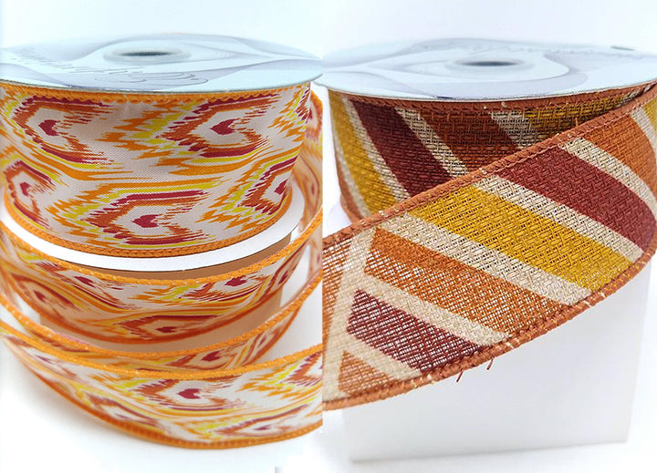 Fall Wired Ribbon By the Roll 1.5 x 10 YARD ROLL