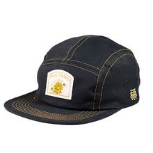 Caps Five Panel Flor Negra