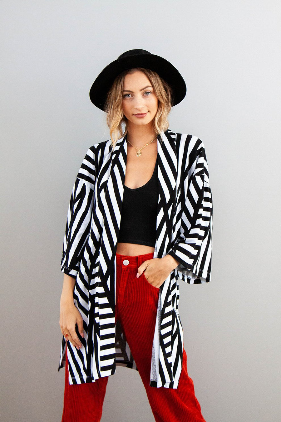 Black And White Striped