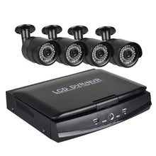 Load image into Gallery viewer, KAVR2304L2_H_4C 4 Ch Security Camera System 10.1 inch LCD 1080N AHD DVR 4×1.0MP Weatherproof Cameras with Night Vision