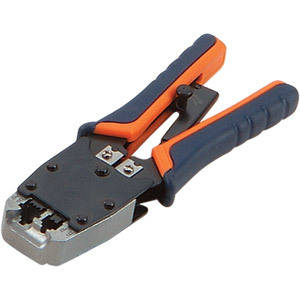 HT-500R Heavy Duty UTP Dual Modular Crimping tool for RJ-45 and RJ-11, rubberized grip