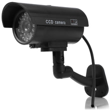 Load image into Gallery viewer, Small Dummy Camera CCTV Sticker Surveillance 90 Degree Rotating with Flashing Red LED Light