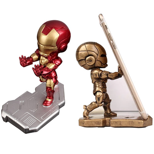 Mobile Phone Iron Avenger Man Bracket Stand Cartoon Marvel Office Desktop Holder Doll Desk Accessories