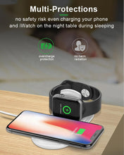 Load image into Gallery viewer, 10W Fast 2 in 1 Wireless Charger Charging Pad for Smart Phone and Apple Watch