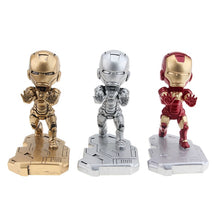 Load image into Gallery viewer, Mobile Phone Iron Avenger Man Bracket Stand Cartoon Marvel Office Desktop Holder Doll Desk Accessories