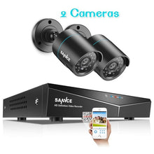 Load image into Gallery viewer, SANNCE 4CH 720P CCTV System 1080N 5IN1 HDMI DVR 2PCS/4PCS AHD 1200TVL Outdoor Weatherproof Camera Home Security Surveillance Kit