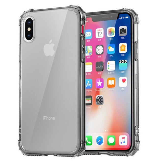 Heavy Duty Protection Case For iPhone 11 Pro Max X XS Max Four Corner Strengthen Silicon Clear Cover For iPhone XR 6 6S 7 8 Plus