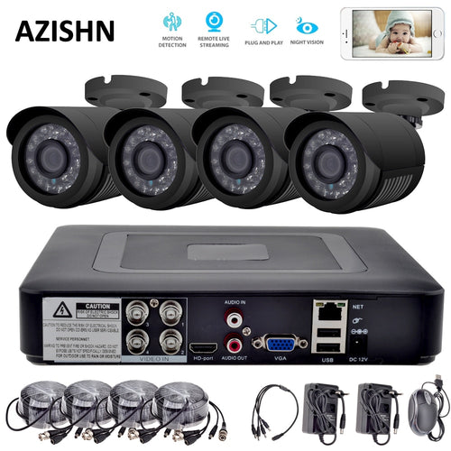 4CH CCTV System 720P HDMI AHD CCTV DVR 4PCS 1.0 MP IR Outdoor 1200 TVL AHD Camera Surveillance System security camera system