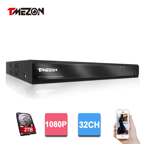 Tmezon HD 32 Channel Full 1080P Video Recorder DVR NVR Security Surveillance System Support Analog AHD  CVI TVI IP  CCTV Camera