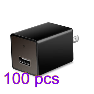 Wireless HD 1080P Hidden Camera USB Wall Charger Wireless Home Security Covert Camcorder Adapter With A Card Reader Support WiFi Max 32GB TF Card (Not included SD card)