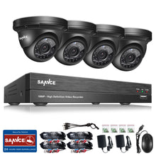 Load image into Gallery viewer, 4CH 1080P HD CCTV Security Indoor Outdoor IR Night Vision Cameras System