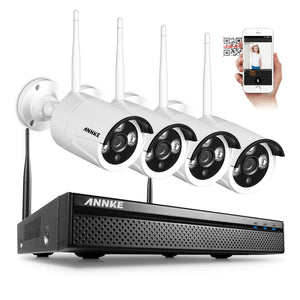 960P 4CH Wi-Fi  Wireless CCTV Network Video Surveillance Cameras System