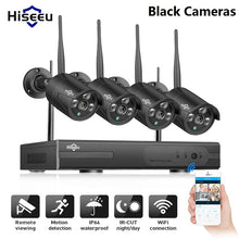 Load image into Gallery viewer, Hiseeu Wireless CCTV camera System 960P 4ch 1.3MP IP Camera waterproof outdoor P2P Home Security System video Surveillance Kits