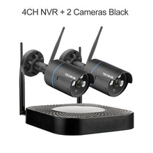 Load image into Gallery viewer, Techege 4CH CCTV System 1080P HD Audio Wireless NVR Kit Outdoor Night Vision Security IP Camera WIFI CCTV System Plug & Play