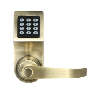 4-in-1 Electronic Keyless Keypad Door Coded Lock Unlocked by Password + RF Card + Remote Control + Mechanical Key Home Security