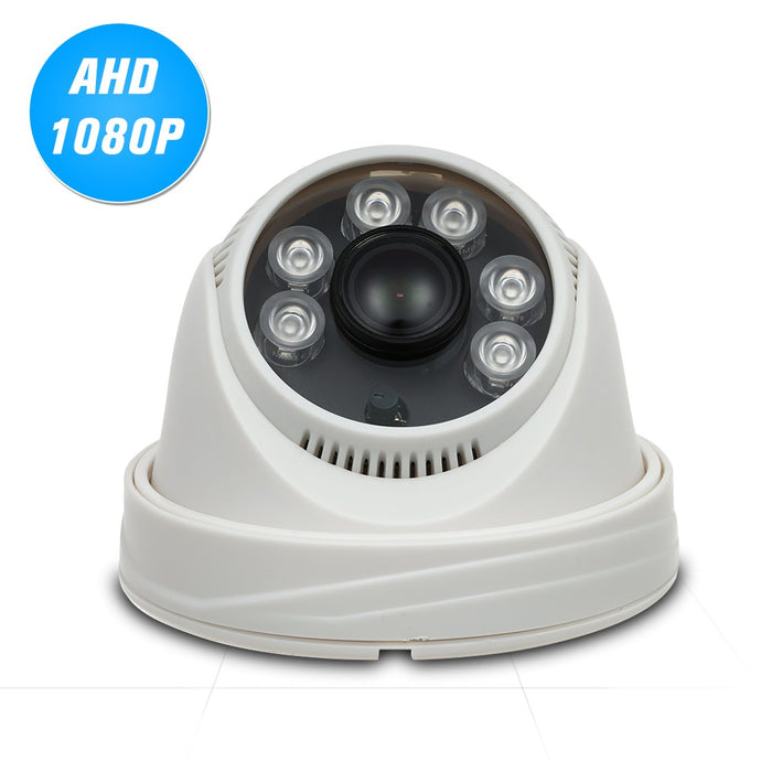 1080P AHD Dome CCTV Camera 2.0MP 1.8mm 6pcs Array IR Lamps Night Vision IR-CUT Indoor Home Security NTSC System