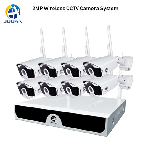 Security Camera System 1080P Wireless CCTV System 2MP 8CH Camera NVR WiFi IR-CUT Bullet CCTV Camera Wireless Security System Kit
