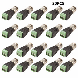 20Pcs lot Mini Coax CAT5 To Camera CCTV BNC UTP Video Balun Connector Adapter BNC Plug For CCTV System Accessories Only 100 left
