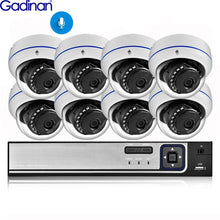 Load image into Gallery viewer, Gadinan 8CH 4MP CCTV Security NVR Kit System 4MP 3MP POE Audio Record Dome Outdoor POE IP Camera P2P Video Surveillance Set