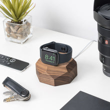 Load image into Gallery viewer, Apple watch handcrafter solid wood dock