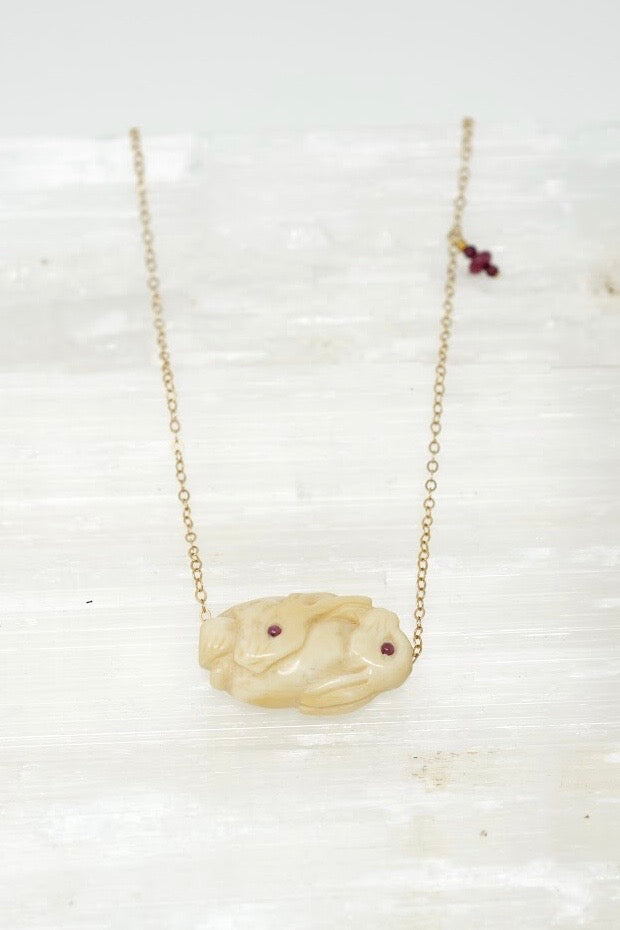 Hand-Carved Rabbit Necklace
