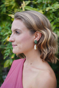 Jade & Freshwater Pearl Earrings