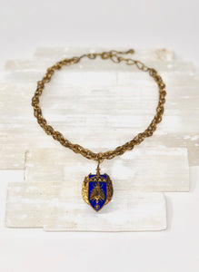 Vintage French Medal Necklace