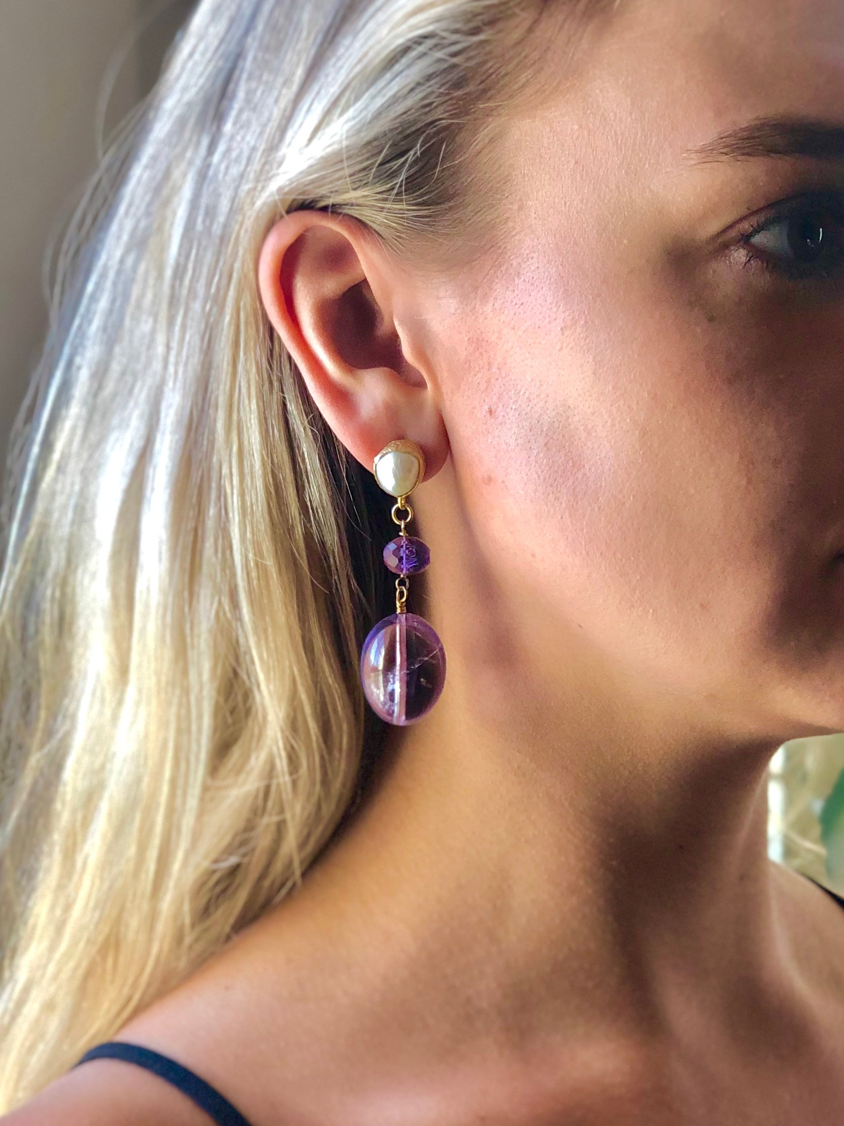 Evening Amethyst Earrings